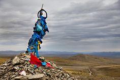 A Shaman holy shrine in Mongolia.
