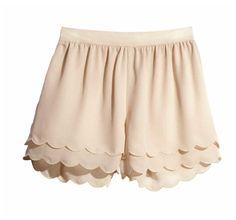 Scalloped Pink Shorts