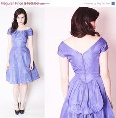 ON SALE 50% OFF - Vintage 50s Kay Selig 50s Cocktail Dress / Short 1950s Dress / 50s Prom Dress / Dress with Bustle / Alternative Wedding Dr