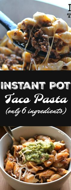 Instant Pot Taco Pasta – ONLY 6 ingredients and about 10 minutes needed! Not onl… Instant Pot Taco Pasta – ONLY 6 ingredients and about 10 minutes needed! Not only will your kids love this but YOU will too! Pastas Recipes, Beef Recipes, Mexican Food Recipes, Cooking Recipes, Healthy Recipes, Delicious Recipes, Cooking Time, Recipies, Cheap Recipes