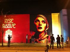 Shepard Fairey created a number of new graffiti murals in Dallas by the invitation of the local Museum of Modern Art