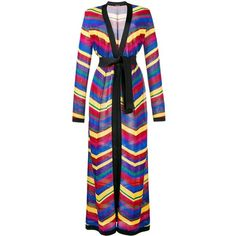 Balmain Chevron Long Cardigan (154.505 RUB) ❤ liked on Polyvore featuring tops, cardigans, striped cardigan, long v neck cardigan, stripe cardigan, v-neck cardigan and v neck long sleeve top