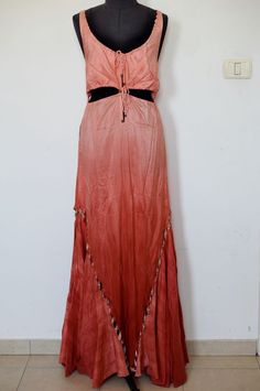 NWT! Givenchy 100% Auth. Graduated Peach 100% silk Cocktail Party Dress Size 40 #Givenchy #Maxi #Cocktail