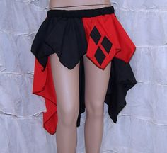 Hey, I found this really awesome Etsy listing at http://www.etsy.com/listing/130641066/harley-quinn-black-red-diamonds-bustle