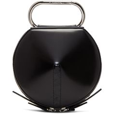 3.1 Phillip Lim Black Alix Circle Clutch ($410) ❤ liked on Polyvore featuring bags, handbags, clutches, black, structured purse, 3.1 phillip lim purse, zipper handbags, circular handbag and zipper purse