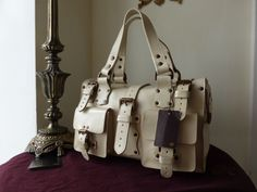 ba4ab4b0898c Mulberry Roxanne in Ivory (Off White) Antique Glace Leather - SOLD
