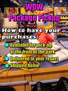 Shopping @ Walt Disney World - How to use Package Pickup or even have packages delievered to your resort or home!