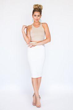 Ojai Pencil Skirt #SauleBoutique