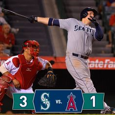 Felix dominates, LoMo delivers clutch two-out 9th inning homer in 3-1 win over Angels. #Mariners 9/18/14