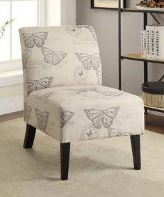 Look at this Butterfly Lily Linen Chair on #zulily today!