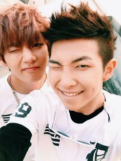 V and Rap Monster from BTS