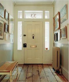 Hallway floorboards