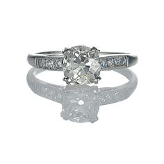Leigh Jay Nacht Inc. - Art Deco Engagement Ring - VR205-22