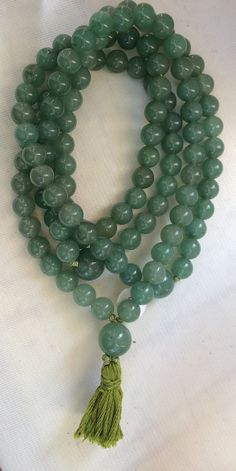 Aventurine Japa Mala Buddhist Prayer Beads Green by QuietMind