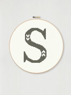 Cross stitch letter S pattern with chevron detail instant Simple Cross Stitch, Cross Stitch Baby, Cross Stitch Kits, Cross Stitch Designs, Learn Embroidery, Hand Embroidery Patterns, Cross Stitch Embroidery, Cross Stitch Letter Patterns, Cross Stitch Letters