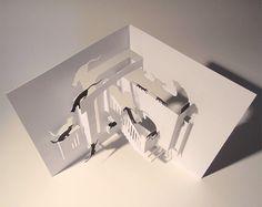 KITTY CHAOS  Een hand-cut inlegkaart gemaakt van een vel papier van de kwaliteit van de gladde 220gsm.  Een origineel ontwerp dat kan worden gebruikt als een gift card of gebruikt voor decoratieve doeleinden.  De kaart heeft een geparafeerde logo op de rug en wordt geleverd compleet met een witte envelop.  Klaar om te verzenden overal en binnen 24 uur van de aankoop zal worden verzonden.  Kaart gesloten - 5 x 7(125 x 175 mm.) Kaart openen - 10 x 7(250 x 175 mm.)  © 2012 Louise Rowe.