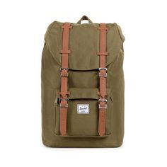Herschel Little America Backpack Army/Tan Synthetic Leather
