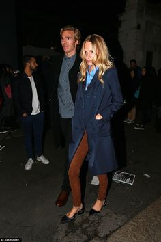 James Cook and Poppy Delevingne - Milan Men's Fashion Week. (January 18, 2015)