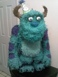 Monsters Inc - Sully Piñata Birthday Pinata, First Birthday Party Themes, Pinata Party, Baby 1st Birthday, Birthday Cakes, Monster University Birthday, Monster Inc Party, Monster Birthday Parties, Monsters Inc