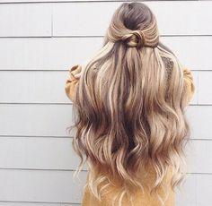 Long dirty blond