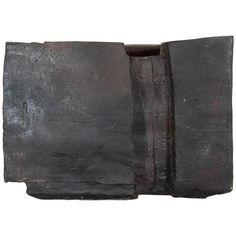 Eric Astoul Large Sculptural Black Ceramic Object or Vase, Untitled 2014