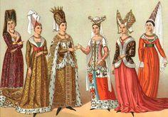 La Edad Media comprende el período entre los siglos V y XV. En sus comienzos el vestuario femenino y masculino se diferenciaba solo por el largo (el hombre utilizaba el atuendo corto).