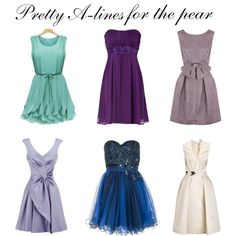 Skirts for Pear-Shaped Body | Pretty A-Line dresses for Pear-shaped