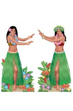 Hula Girl Scene Setters - Pack of 2 - Tropical Party Wall Decoration Ideas