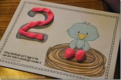 Playdough Number Play Mats for Toddler and Preschool