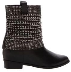 BOTA MALHA METAL METALLIC BLACK Skinny, Shorts, Black Boots, Rubber Rain Boots, Metallic, Wedges, Booty, Ankle, Fashion