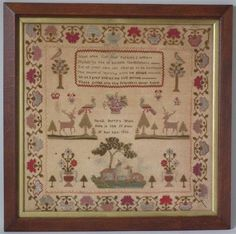 1835 Stag Sampler by Sarah Berry