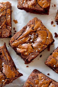 Using Nutella as the chocolate flavor in easy homemade brownies takes them to the next level!! Recipe on sallysbakingaddiction.com