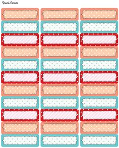 Etiquetas imprimibles con lunares, gratis - FREE printable tags and labels with cute polka dots including address labels. Free Printable Tags, Printable Stickers, Printable Paper, Planner Stickers, Free Printables, Free Address Labels, Address Label Template, Label Templates, Labels Free
