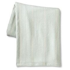 T Organic Blanket- Mint Herringbone (Mint Ash)