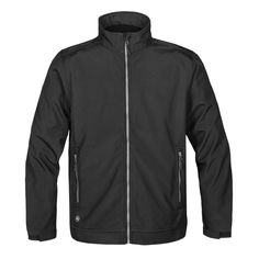 Men's Cyclone Softshell Showerproof Jacket Polyester, Bonded with Polyester Microfleece STORMTECH D/W/R Durable Water Resistant Outer Shell Stand-Up Collar Full Inside Placket Self Fabric Adjustable Cuff Tabs Open Hem with Rib Insert Softshell, Mid Length, Work Wear, Active Wear, Range, Fabric, How To Wear, Jackets, Men