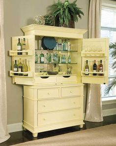 Bar Hutch and Single Dresser - Villages of Gulf Breeze   Bob Timberlake