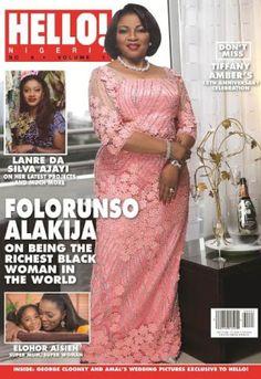 NIGERIAN TOP SECRET: Africa's Richest Woman Folorunsho Alakija covers H...