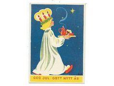 Aina Oskrivet Julkort Småkort Lucia