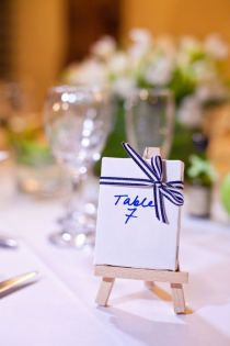 Canvas table number