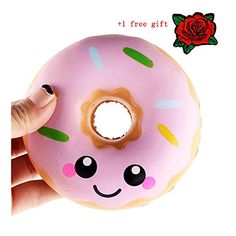 Kangrunmy Squeeze Jouet Squishy donut Kawaii Anti Stress Cadeau Enfant Adultes Pas Cher Mochi Soft Slow Rising Toys DéCompression Squishies…