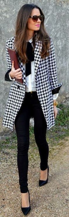 no place to wear, but LOVE houndstooth!  this outfit rocks