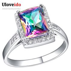 Find More Rings Information about Women Rings 2016 Anel de Ouro 18K Branco,Women Acessorios,Anel de Noivado,Acessorios Para Mulher,Rhinestone Colorful Ring J482,High Quality ring 2016,China women rings Suppliers, Cheap anel de noivado from Ulovestore Fashion Jewelry on Aliexpress.com
