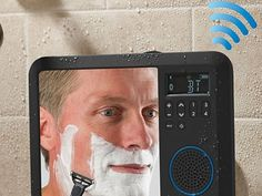 The Only Bluetooth Shower Mirror Radio - with fog-free mirror for worry-free shaving and a radio for playing music wirelessly