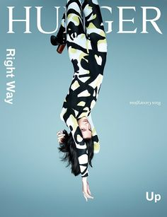 Hunger Magazine covers are ingeniously up side down! [covers]. Look 52.