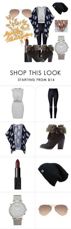 """Happy Thanksgiving"" by bowkam on Polyvore featuring River Island, Charlotte Russe, NARS Cosmetics, Larsson & Jennings and Ray-Ban"