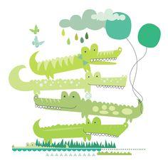 Victor Fox Crocodile Illustration, Fox Illustration, Watercolor Illustration, Animals For Kids, Cute Baby Animals, Crocodile Rock, Sweet Drawings, Kids Patterns, Sketchbook Inspiration