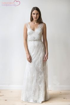 Sweet all over lace wedding dress