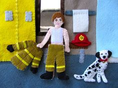 Ready to fight fires! Fire Station Quiet Book