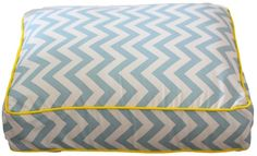 Blue and Cream Chevron Dog Bed