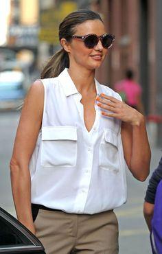 perfect white summer blouse